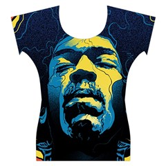 Gabz Jimi Hendrix Voodoo Child Poster Release From Dark Hall Mansion Women s Cap Sleeve Top