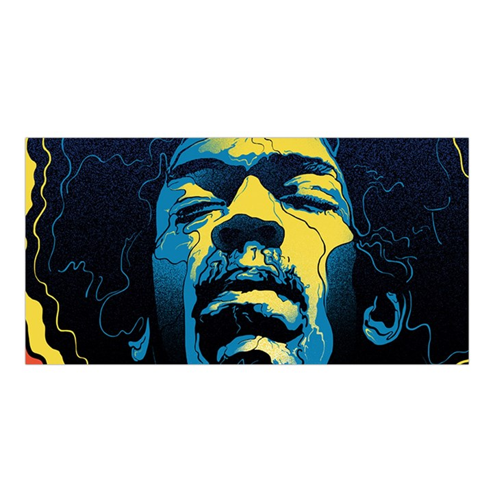 Gabz Jimi Hendrix Voodoo Child Poster Release From Dark Hall Mansion Satin Shawl