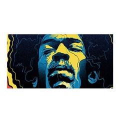 Gabz Jimi Hendrix Voodoo Child Poster Release From Dark Hall Mansion Satin Wrap
