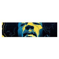 Gabz Jimi Hendrix Voodoo Child Poster Release From Dark Hall Mansion Satin Scarf (oblong)