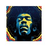 Gabz Jimi Hendrix Voodoo Child Poster Release From Dark Hall Mansion Small Satin Scarf (Square) Front