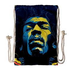 Gabz Jimi Hendrix Voodoo Child Poster Release From Dark Hall Mansion Drawstring Bag (Large)