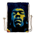 Gabz Jimi Hendrix Voodoo Child Poster Release From Dark Hall Mansion Drawstring Bag (Large) Front