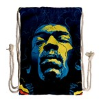 Gabz Jimi Hendrix Voodoo Child Poster Release From Dark Hall Mansion Drawstring Bag (Large) Back