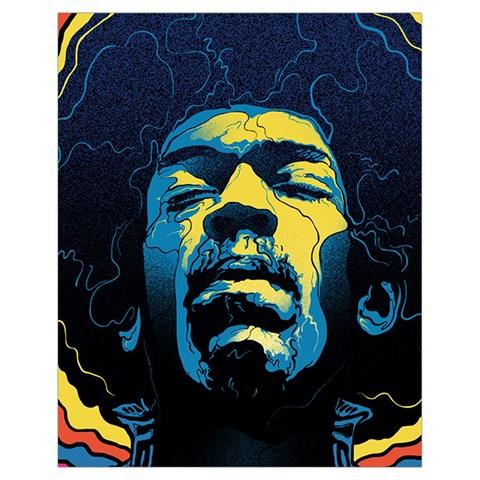 Gabz Jimi Hendrix Voodoo Child Poster Release From Dark Hall Mansion Drawstring Bag (Small)
