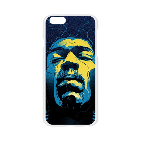 Gabz Jimi Hendrix Voodoo Child Poster Release From Dark Hall Mansion Apple Seamless iPhone 6/6S Case (Transparent)