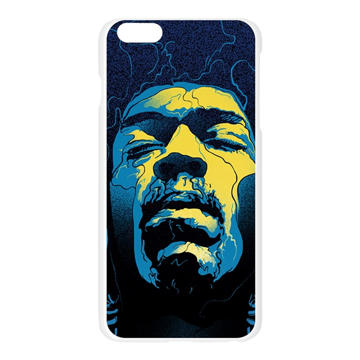 Gabz Jimi Hendrix Voodoo Child Poster Release From Dark Hall Mansion Apple Seamless iPhone 6 Plus/6S Plus Case (Transparent)