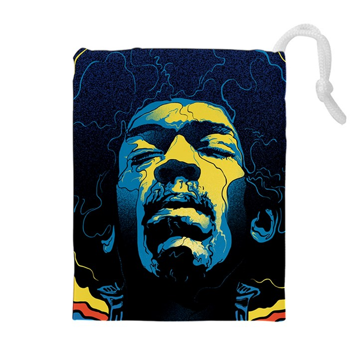 Gabz Jimi Hendrix Voodoo Child Poster Release From Dark Hall Mansion Drawstring Pouches (Extra Large)