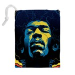 Gabz Jimi Hendrix Voodoo Child Poster Release From Dark Hall Mansion Drawstring Pouches (Extra Large) Back