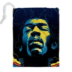 Gabz Jimi Hendrix Voodoo Child Poster Release From Dark Hall Mansion Drawstring Pouches (XXL) Back