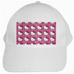 Hello Kitty Patterns White Cap Front