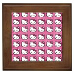 Hello Kitty Patterns Framed Tiles Front