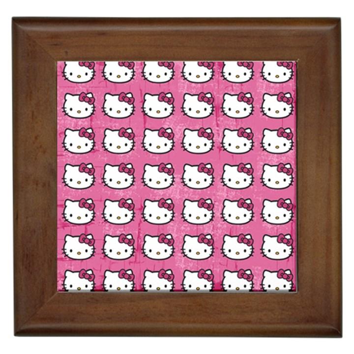 Hello Kitty Patterns Framed Tiles