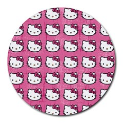 Hello Kitty Patterns Round Mousepads