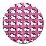 Hello Kitty Patterns Round Mousepads Front