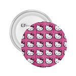 Hello Kitty Patterns 2.25  Buttons Front