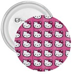 Hello Kitty Patterns 3  Buttons Front