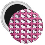 Hello Kitty Patterns 3  Magnets Front