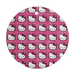 Hello Kitty Patterns Ornament (Round)