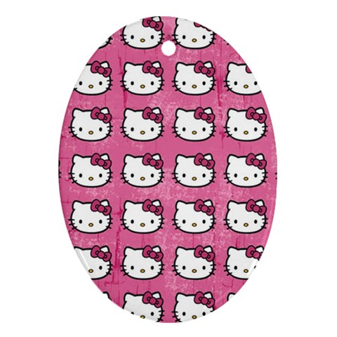 Hello Kitty Patterns Ornament (Oval)