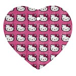 Hello Kitty Patterns Ornament (Heart)  Front