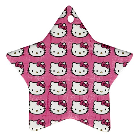Hello Kitty Patterns Ornament (Star)