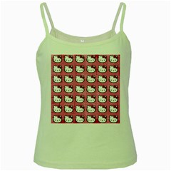 Hello Kitty Patterns Green Spaghetti Tank