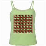 Hello Kitty Patterns Green Spaghetti Tank Front