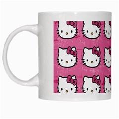 Hello Kitty Patterns White Mugs