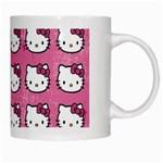 Hello Kitty Patterns White Mugs Right