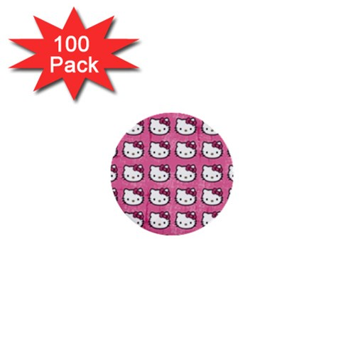 Hello Kitty Patterns 1  Mini Buttons (100 pack)