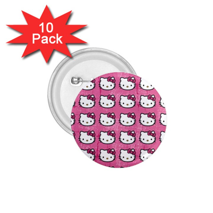 Hello Kitty Patterns 1.75  Buttons (10 pack)