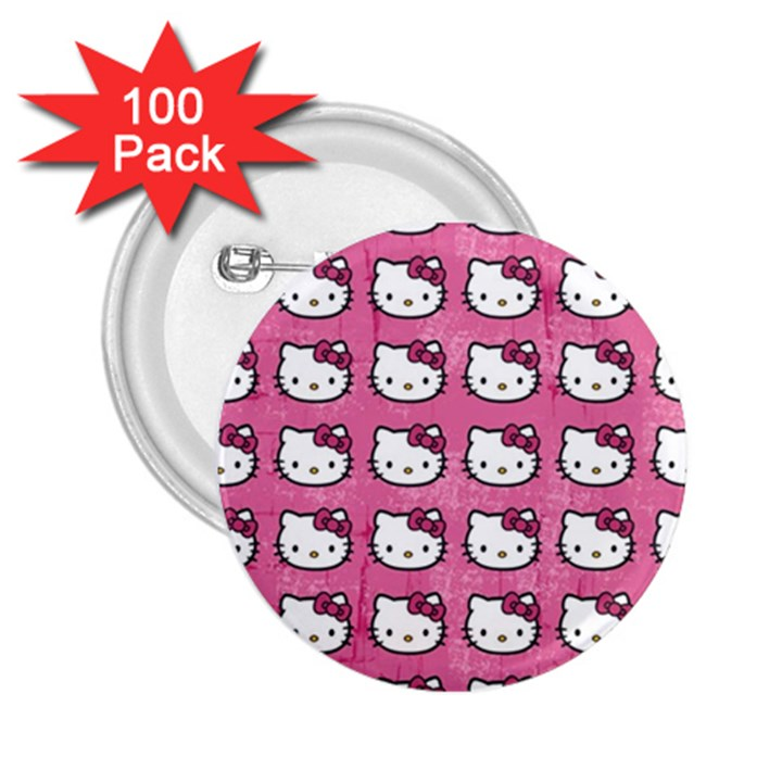 Hello Kitty Patterns 2.25  Buttons (100 pack)