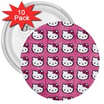 Hello Kitty Patterns 3  Buttons (10 pack)  Front