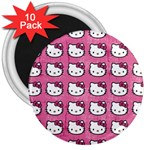 Hello Kitty Patterns 3  Magnets (10 pack)  Front