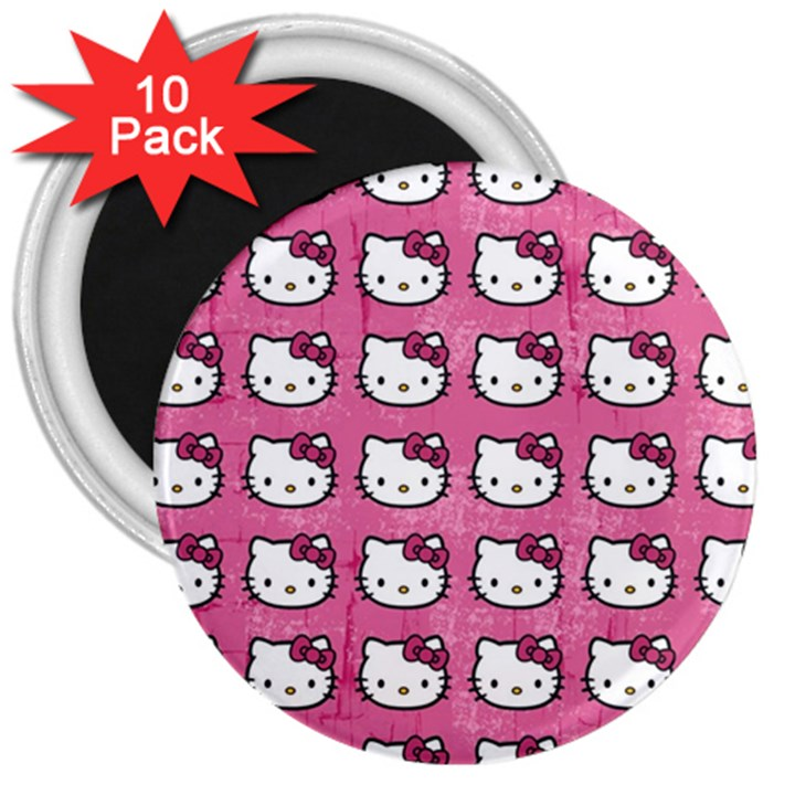 Hello Kitty Patterns 3  Magnets (10 pack)