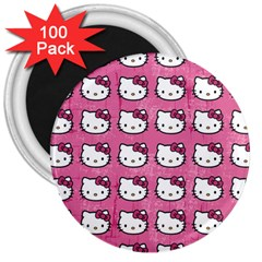 Hello Kitty Patterns 3  Magnets (100 pack)