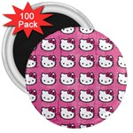 Hello Kitty Patterns 3  Magnets (100 pack) Front