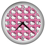 Hello Kitty Patterns Wall Clocks (Silver)  Front