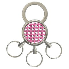 Hello Kitty Patterns 3-Ring Key Chains