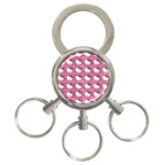 Hello Kitty Patterns 3-Ring Key Chains Front