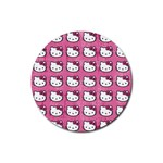 Hello Kitty Patterns Rubber Round Coaster (4 pack)  Front