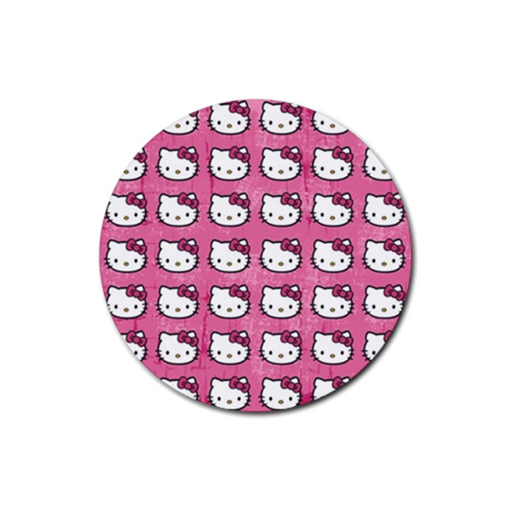 Hello Kitty Patterns Rubber Round Coaster (4 pack)