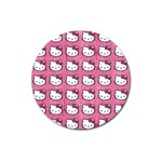 Hello Kitty Patterns Magnet 3  (Round) Front