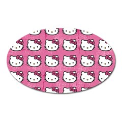 Hello Kitty Patterns Oval Magnet