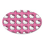 Hello Kitty Patterns Oval Magnet Front