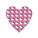 Hello Kitty Patterns Heart Magnet Front
