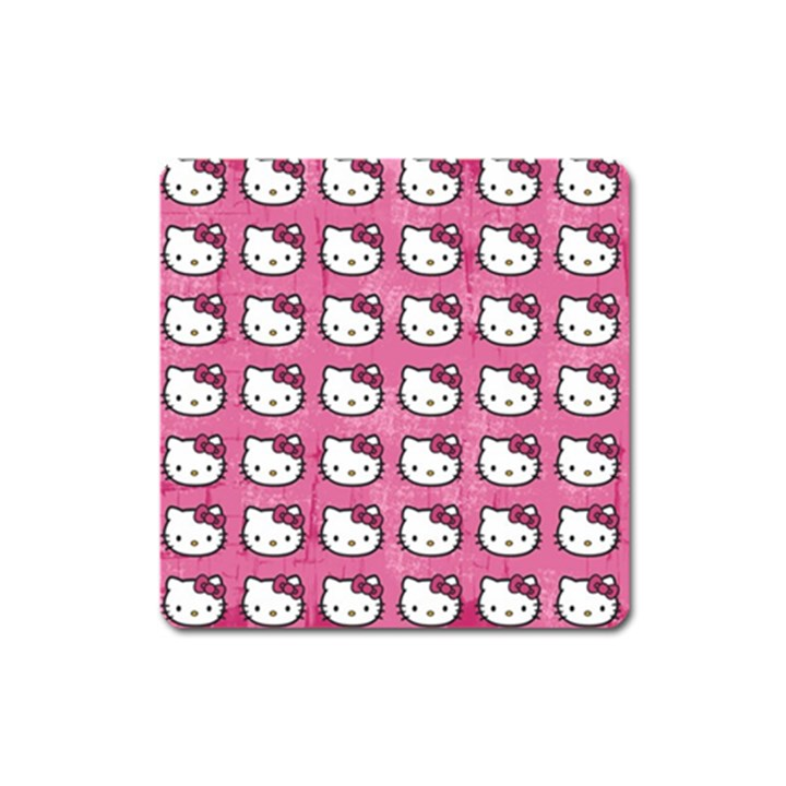 Hello Kitty Patterns Square Magnet