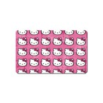 Hello Kitty Patterns Magnet (Name Card) Front