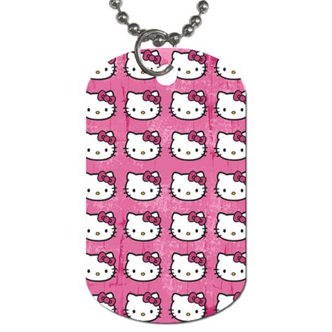 Hello Kitty Patterns Dog Tag (Two Sides)